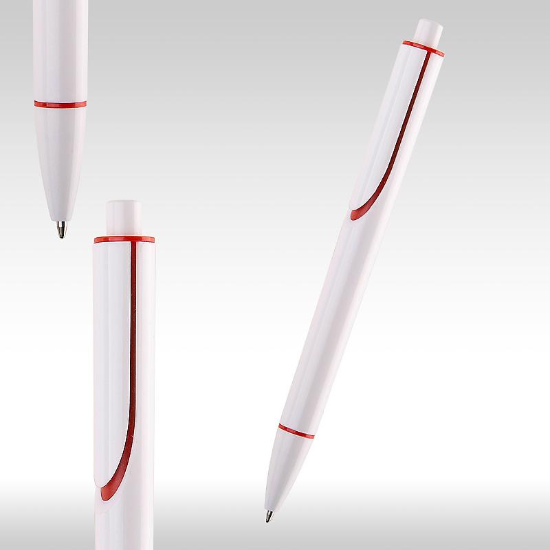 Химикалка CLEAR бяла с червено