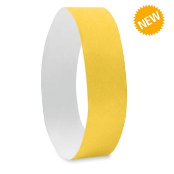 Жълти хартиени гривни Tyvek