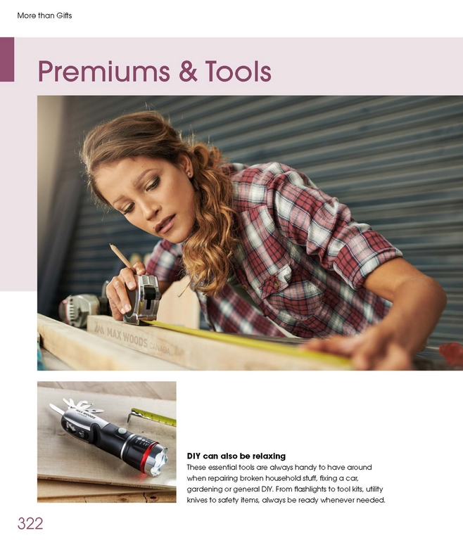 Premiums and Tools