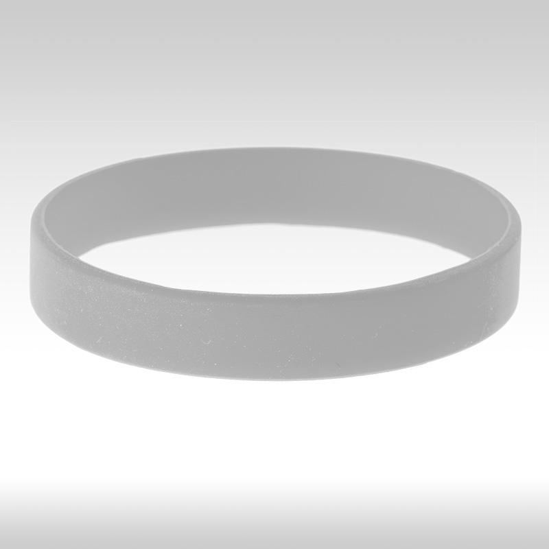 бяла силиконова гривна