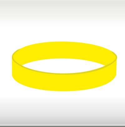 силиконови гривни жълти