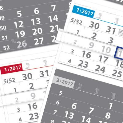 3 month calendar Universal