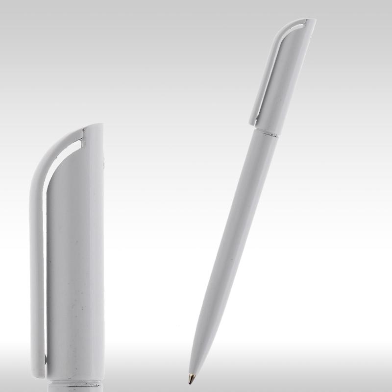 рекламни химикалки 10220, пластмасови бели химикалки