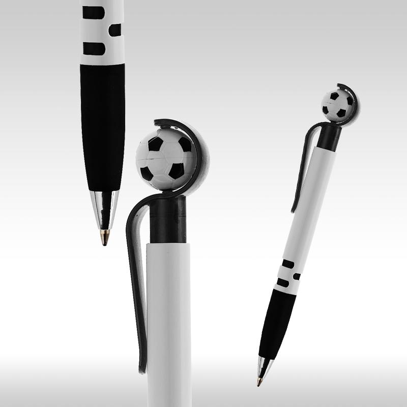 футболна химикалка бяло с черно