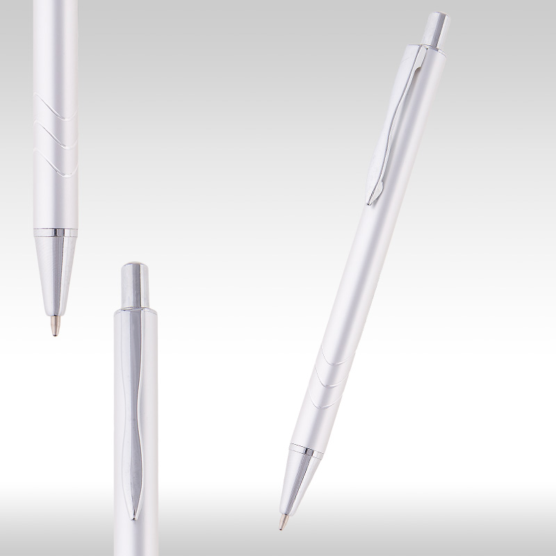 wave metal pen silver