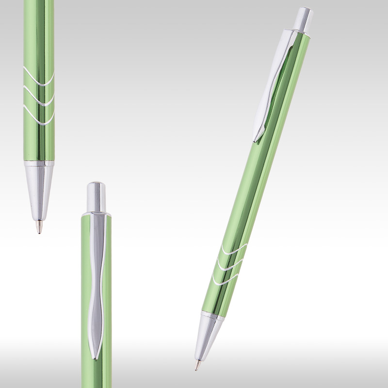 wave metal pen green