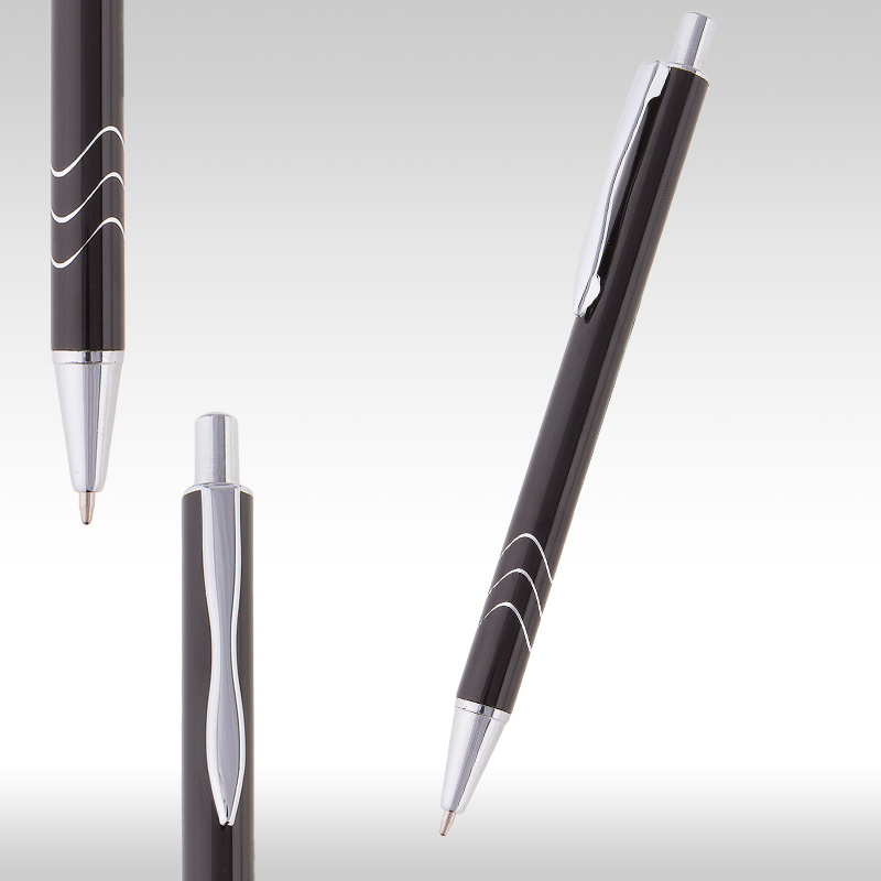 wave metal pen black